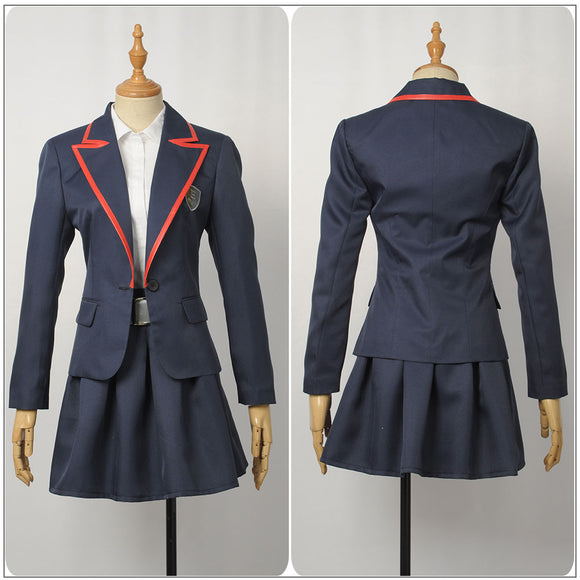 Female Uniform Costume TV Series Elite Junior High School Cosplay for Halloween Carnival Convention