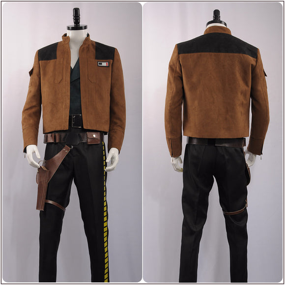 Han Solo Costume Movie Solo: A Star Wars Story Cosplay for Halloween Carnival Convention