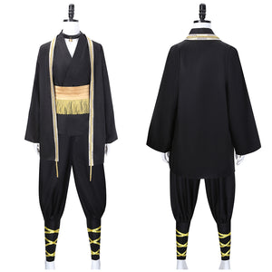Harai Kuko Costume Black Kimono Game Hypnosis Mic Division Rap Battle Cosplay for Halloween Carnival Convention
