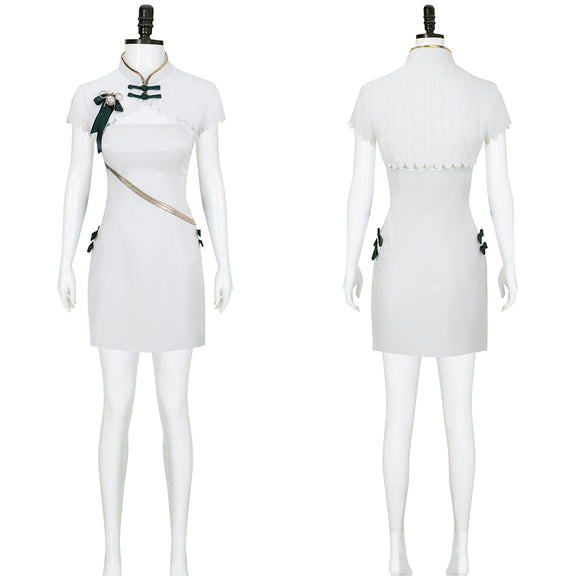 Hatsune Miku Costume White Cheongsam 2020 Vocaloid Shaohua Ver Cosplay for Halloween Carnival Convention
