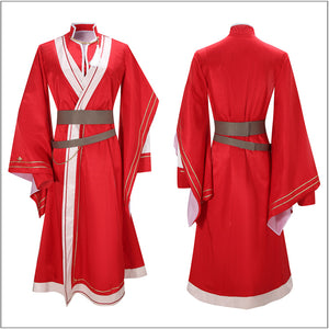 Hua Cheng Costume Red Kimono Han Fu Anime Heaven Official's Blessing Cosplay for Halloween Carnival Convention Version B