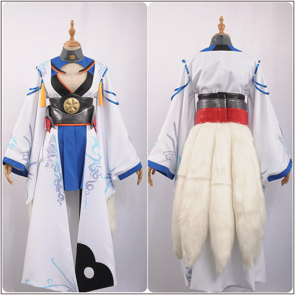 IJN Kaga Costume Fancy Dress Robe with Ear Tail Game Azur Lane Cosplay for Halloween Carnival Convention