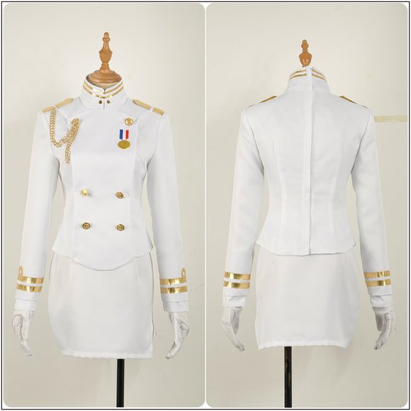 Ijn Atago White Uniform Costume Game Azur Lane Cosplay for Halloween Carnival Convention