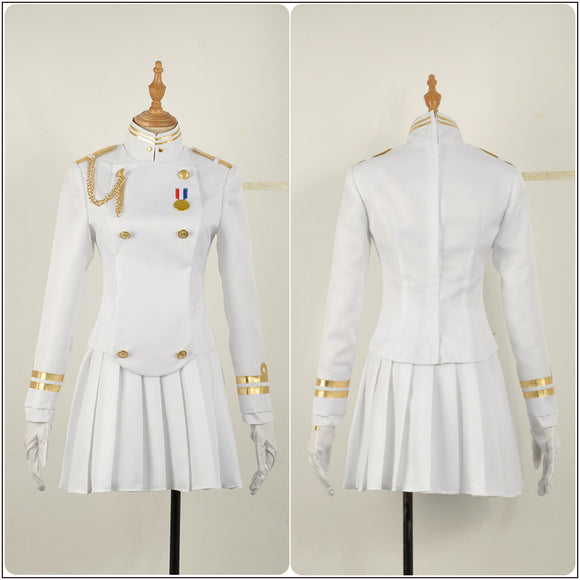 Ijn Takao White Uniform Costume Game Azur Lane Cosplay for Halloween Carnival Convention