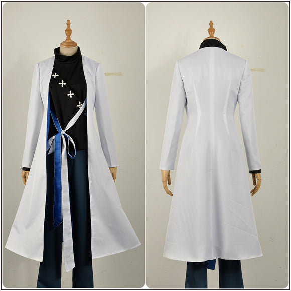 Jakurai Jinguji Costume White Coat Game Hypnosis Mic Division Rap Battle Cosplay for Halloween Carnival Convention