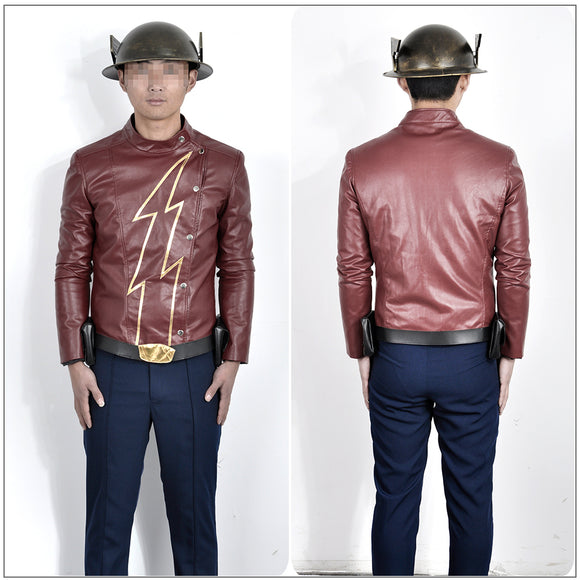 Jay Garrick Costume TV Series The Flash Season 2 Cosplay for Halloween Carnival Convention