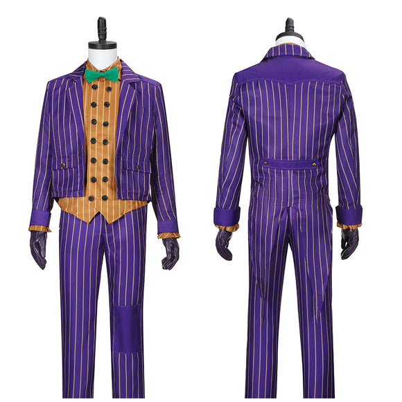 Joker Costume Christmas Outfit Game Batman: Arkham Knight Cosplay for Halloween Carnival Convention