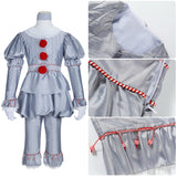 Joker Pennywise Costume Horror Movie Stephen King's It Cosplay for Halloween Carnival Convention