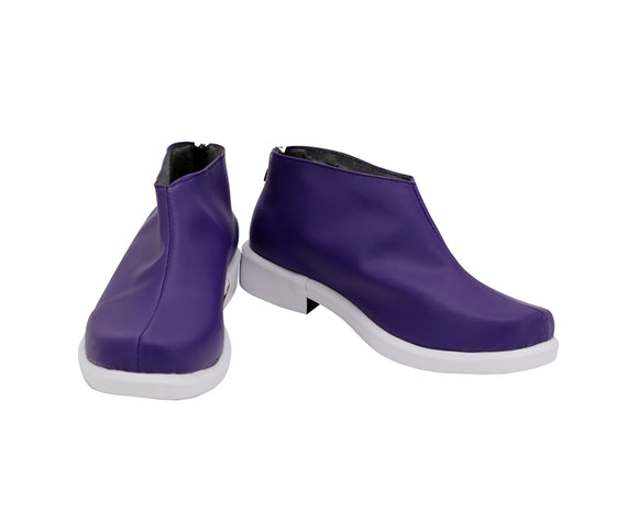 Joker Purple Shoes Boots Anime Mysterious Joker Cosplay for Halloween Carnival Convention