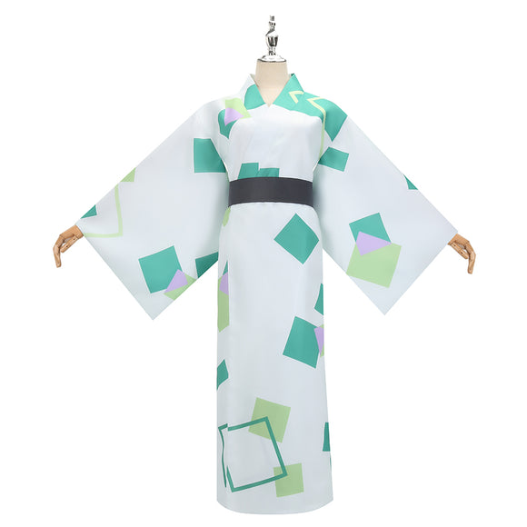 Kamado Tanjirou Costume Summer Kimono Anime Demon Slayer: Kimetsu no Yaiba Cosplay for Halloween Carnival Convention