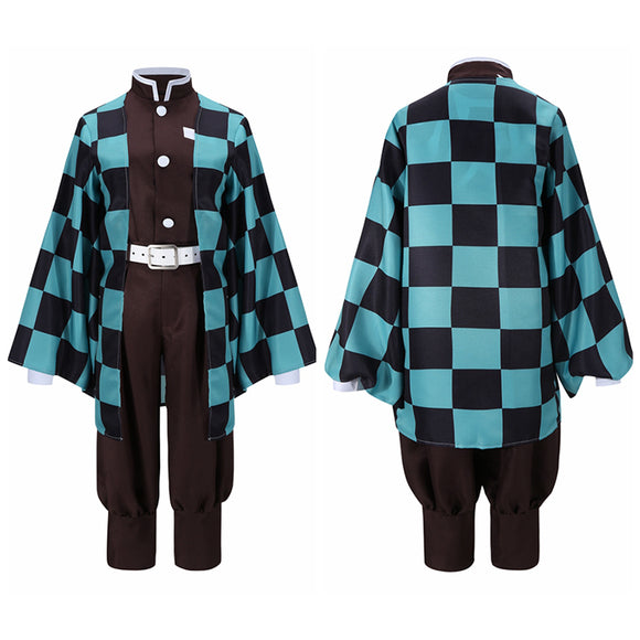 Kamado Tanjirou Kimono Costume Anime Demon Slayer: Kimetsu no Yaiba Cosplay for Halloween Carnival Convention