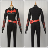 Kathy Kane Costume Black Jumpsuits TV Series Batwoman Cosplay for Halloween Carnival Convention Version A