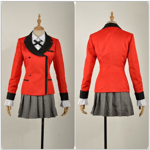 Kirari Momobami Costume Anime Kakegurui: Compulsive Gambler Cosplay for Halloween Carnival Convention