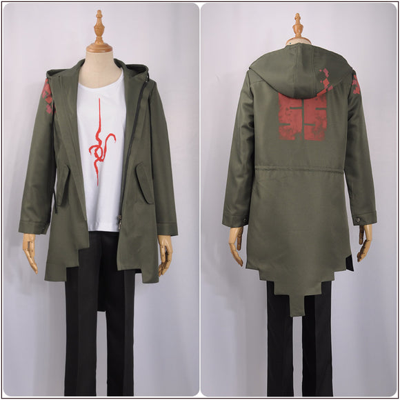 Komaeda Nagito Costume Green Jacket Game Super Danganronpa 2 Cosplay for Halloween Carnival Convention