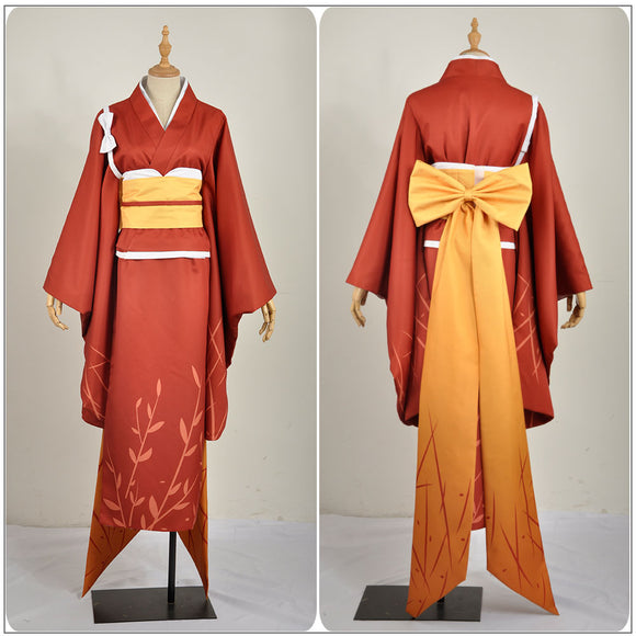 Kyoka Izumi Costume Red Kimono Anime Bungo Stray Dogs Cosplay for Halloween Carnival Convention