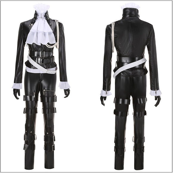 Lio Fotia Costume Black PU Suit Movie Promare Cosplay for Halloween Carnival Convention
