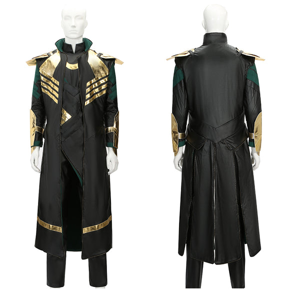 Loki Costume Battle Outfit Movie Thor: The Dark World Cosplay for Halloween Carnival Convention