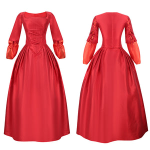 Maria Reynolds Costume Red Dress Musical Hamilton Cosplay for Halloween Carnival Convention