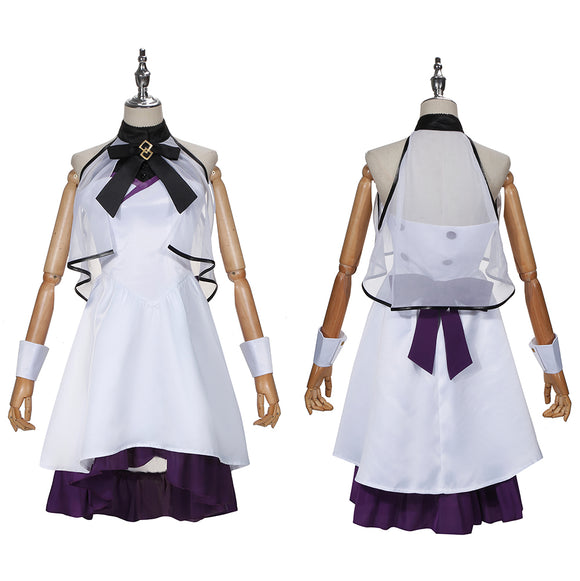 Mash Kyrielight Costume White Dress Game FGO 5th Anniversary Project Under the Same Sky Cosplay for Halloween Carnival Convention