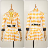 McNamara Costume Yellow Stage Dress Rock Musical Heathers Cosplay for Halloween Carnival Convention