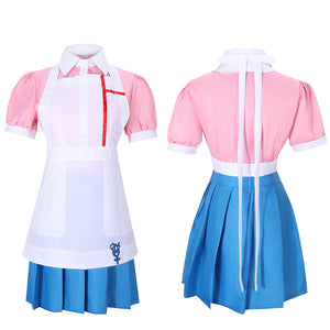 Mikan Tsumiki Maid Costume Game Danganronpa 2 Cosplay for Halloween Carnival Convention