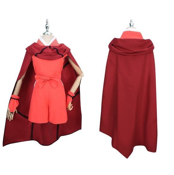 Moroha Costume Red Outfit Anime Yashahime: Princess Half Demon Cosplay for Halloween Carnival Convention