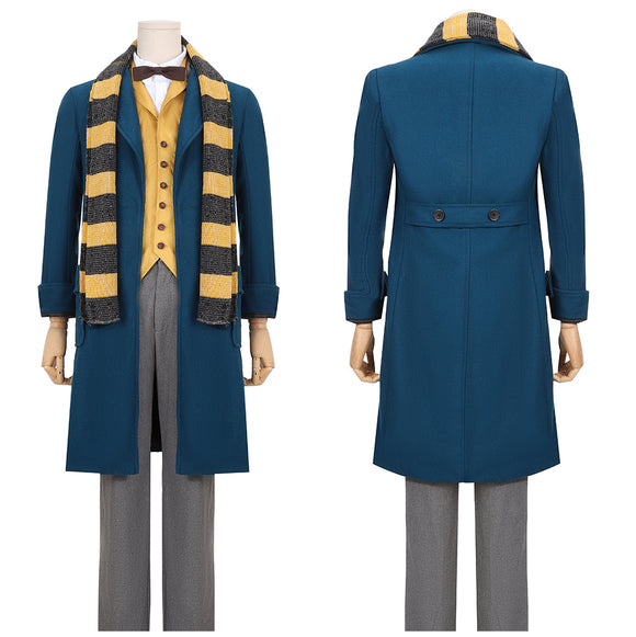 Newt Scamander Costume Movie Fantastic Beasts and Where to Find Them Cosplay for Halloween Carnival Convention
