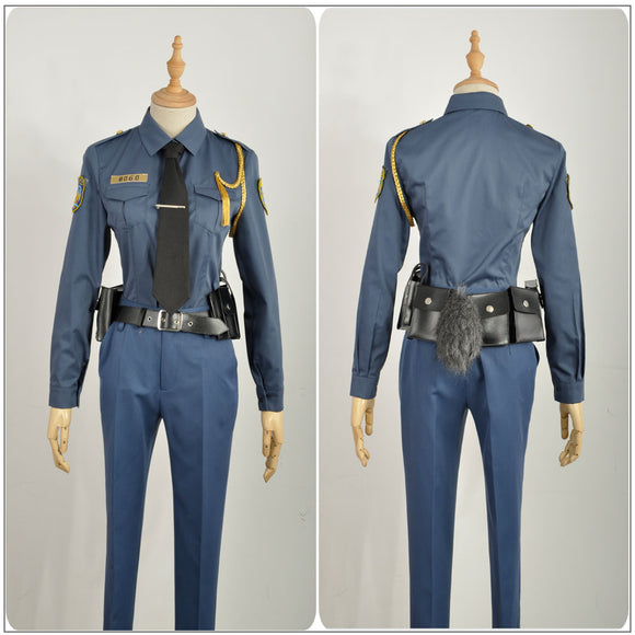 Officer Rabbit Judy Hopps Costume Police Uniform Movie Zootopia Cosplay for Halloween Carnival Convention
