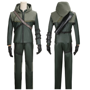 Oliver Queen Costume Battleframe TV Series Arrow Season 3 Cosplay for Halloween Carnival Convention
