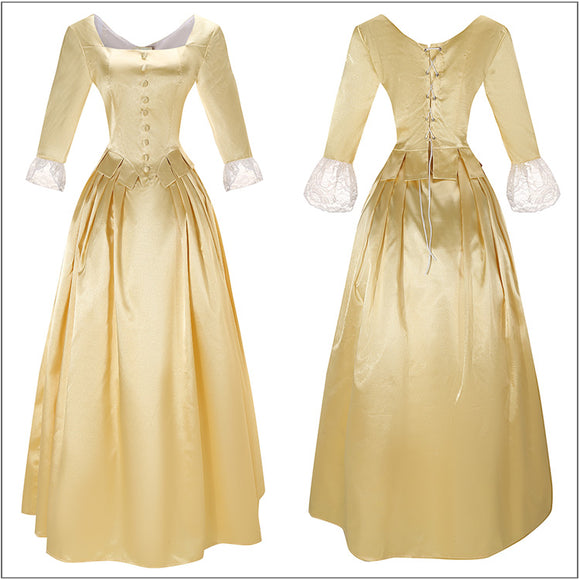 Peggy Costume Classic Dress Musical Hamilton Cosplay for Halloween Carnival Convention