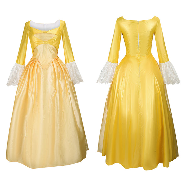 Peggy Light Yellow Dress Costume Musical Hamilton Cosplay for Halloween Carnival Convention