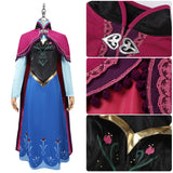 Princess Anna Costume Movie Frozen Cosplay for Halloween Carnival Convention