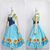 Princess Anna Costume Party Dress Movie Frozen Fever Cosplay for Halloween Carnival Convention