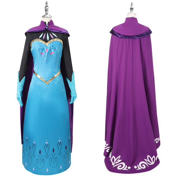 Princess Elsa Snow Queen Costume Movie Frozen Cosplay for Halloween Carnival Convention