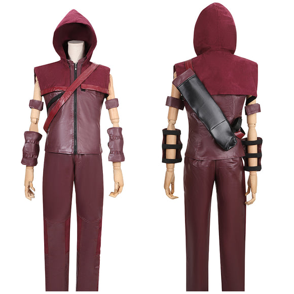Red Arrow Roy Harper Costume Battleframe TV Series Arrow Cosplay for Halloween Carnival Convention