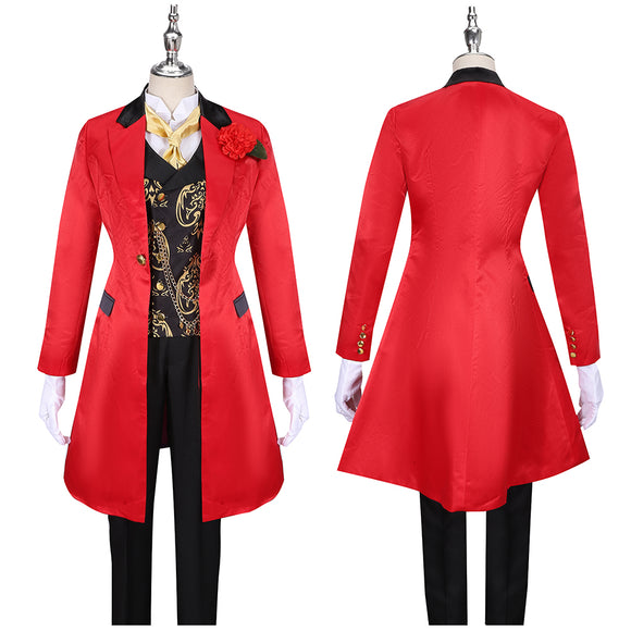 Riddle Costume Red Uniform Game Twisted-Wonderland Ghost Marriage Cosplay for Halloween Carnival Convention