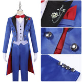 Rook Costume Blue Uniform Game Twisted-Wonderland Ghost Marriage Cosplay for Halloween Carnival Convention