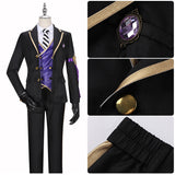 Rook Hunt Costume Black Uniform Game Twisted-Wonderland Cosplay for Halloween Carnival Convention