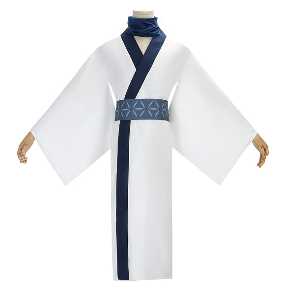 Ryomen Sukuna Costume White Kimono Anime Jujutsu Kaisen Cosplay for Halloween Carnival Convention