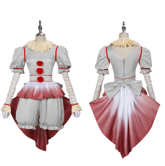 Sailor Moon Joker Pennywise Horror Costume Movie Stephen King's It Cosplay for Halloween Carnival Convention