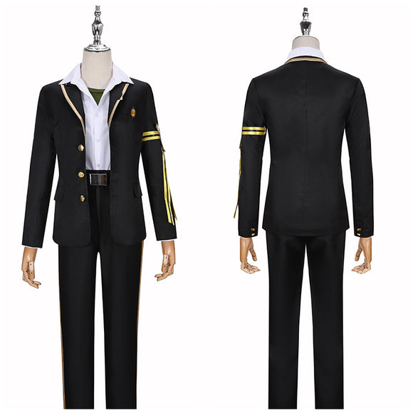 Savanaclaw Jack Howl Costume Black Uniform Game Twisted-Wonderland Cosplay for Halloween Carnival Convention
