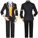 Savanaclaw Ruggie Bucchi Costume Black Uniform Game Twisted-Wonderland Cosplay for Halloween Carnival Convention
