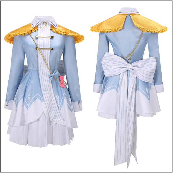 Snow Miku Costume Fancy Dress 2020 Vocaloid Cosplay for Halloween Carnival Convention
