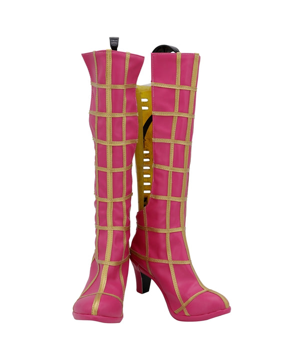 Spice Girl Trish Una Pink Shoes Boots JoJo's Bizarre Adventure Cosplay for Halloween Carnival