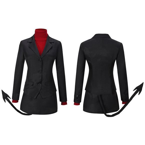 The Lustful Demon Modeus Costume Game Helltaker Cosplay for Halloween Carnival Convention