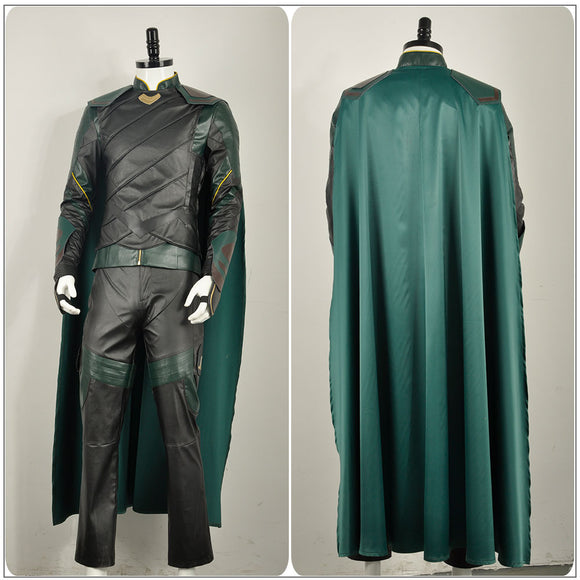 Thor's Brother Loki Nanosuit Costume Battle Outfit Movie Avengers: Infinity War Thor 3: Ragnarok Cosplay for Halloween Carnival Convention