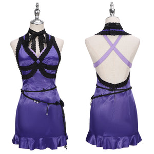 Tifa Purple Dress Costume Game Final Fantasy VII Remake Cosplay for Halloween Carnival Convention