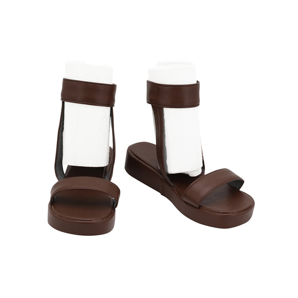 Tsuchikage Brown Sandals Shoes Boots Anime Naruto Cosplay for Halloween Carnival Convention