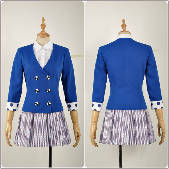 Veronica Sawyer Costume Blue Stage Dress Rock Musical Heathers Cosplay for Halloween Carnival Convention