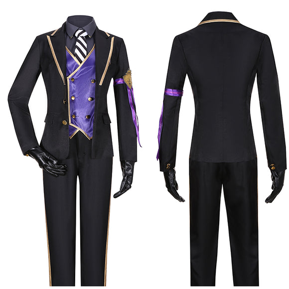 Vil Schoenheit Costume Black Uniform Game Twisted-Wonderland Cosplay for Halloween Carnival Convention